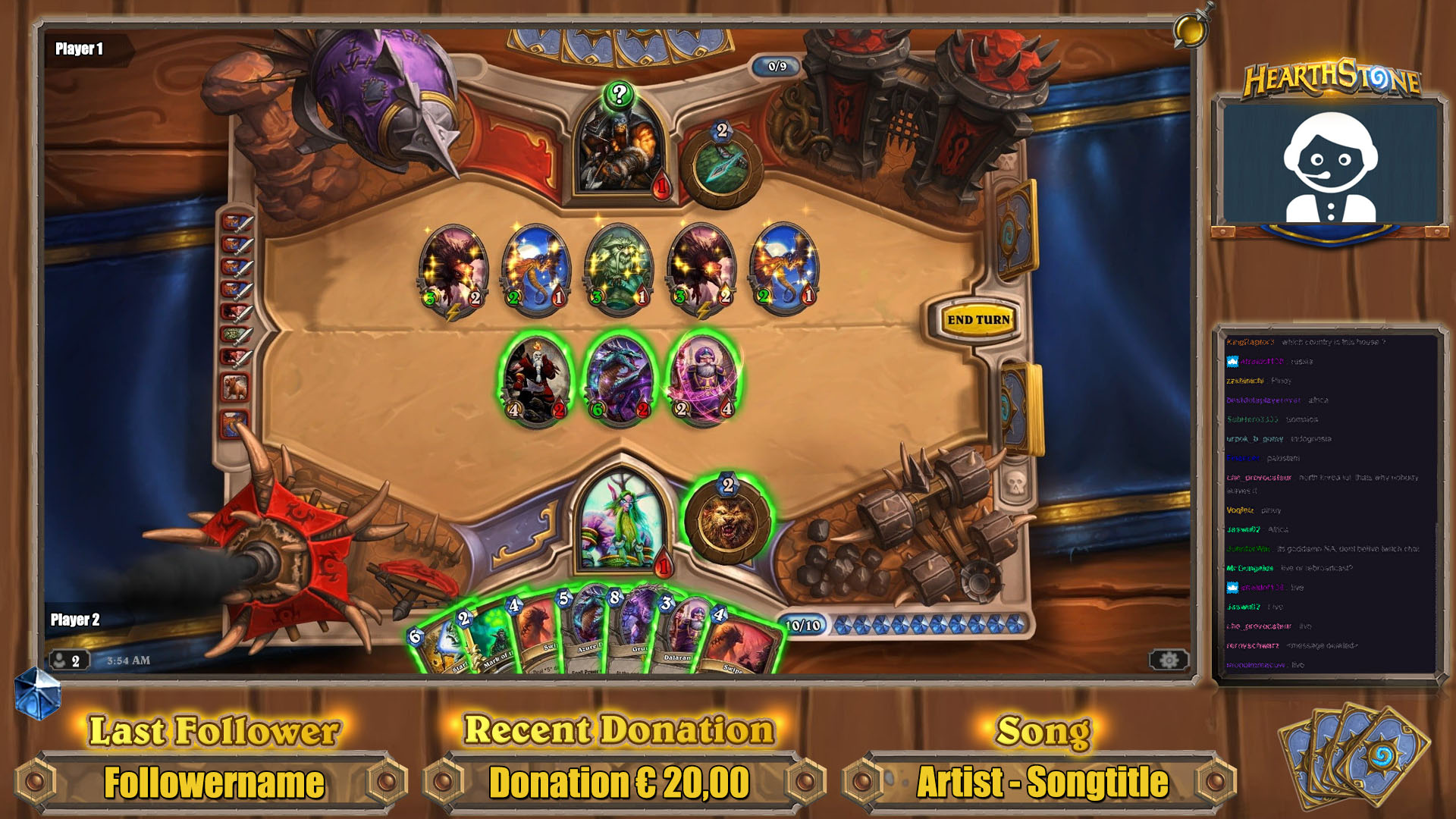 free hearthstone stream overlays hearthstone